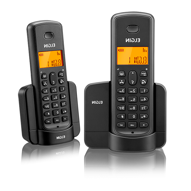 Telefone sem Fio ELGIN TSF 8002 Identificador de Chamadas Preto