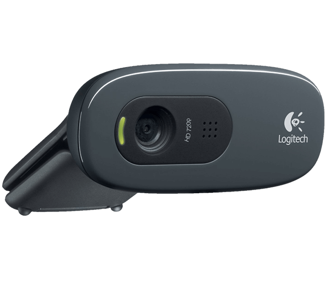Logitech C270 Webcam Hd 720p Usb Cinza