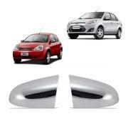 Aplique Retrovisor Cromado Fiesta 03 a 12 e Ka 08 a 12