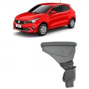 Encosto Descanso Apoio de Braço Fiat Argo 2018 2019 2020 2021 Porta Objetos Couro Preto