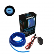 Fita de Led Luz Interna Neon Azul 2 Metros Shocklight