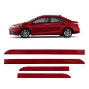 Friso Lateral Corolla Vermelho 2015 a 2018 Mod Original