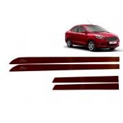 Friso Lateral Ford KA Hatch/Sedan Personalizado Vermelho Vermont