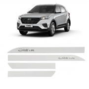 Friso Lateral Hyundai Creta Branco Atlas  Com Escrita Cromada