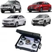 Kit Porca Antifurto Zincada Hyundai Kia Jac Mitsubishi STARLOCK H1/E