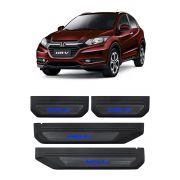 Kit Soleira de Porta C/ LED Honda HR-V Inox Iluminada