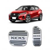 Pedaleira para Nissan Kicks Automatico em Aço Inox