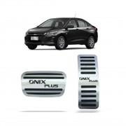 Pedaleira para Onix Plus Automático em Aço Inox