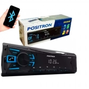 Rádio Automotivo Positron MP3 Player 1 Din Bluetooth USB FM AUX -  SP2230BT
