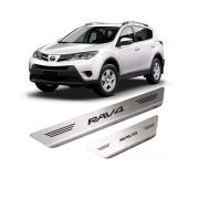 Soleira de Porta Toyota RAV4 em Aço Inox Escovado