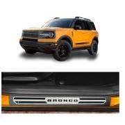 Soleira Porta Ford Bronco Resinada Premium Aço Escovado NP