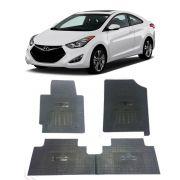 Tapete de Borracha PVC Reforçado Hyundai Elantra 2014 em diante Tapeplass