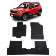 Tapete de Borracha PVC Reforçado Jeep Renegade 2015 em diante Tapeplas