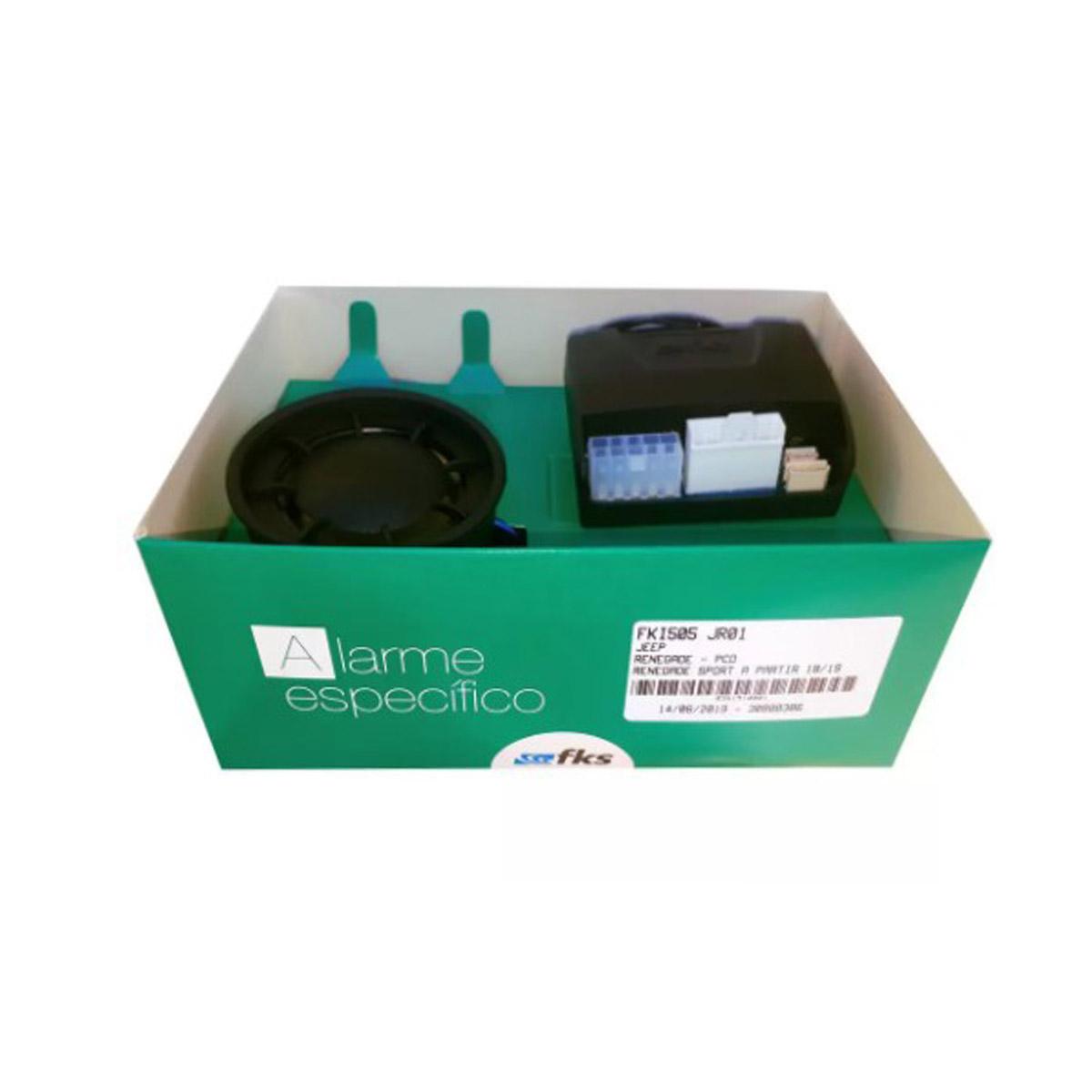 Alarme Específico Para Jeep Renegade com Chaveador Eletrônico FKI505 JR01