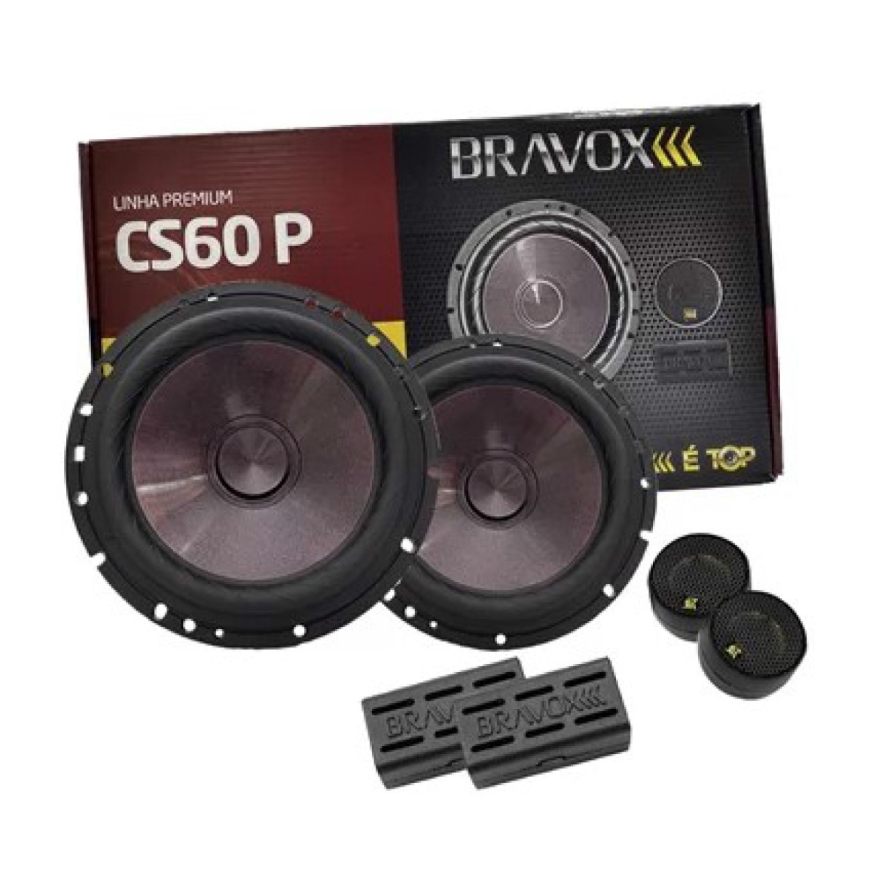 Alto Falante Kit 2 Vias Bravox 6 CS60P 120w Rms Bravox