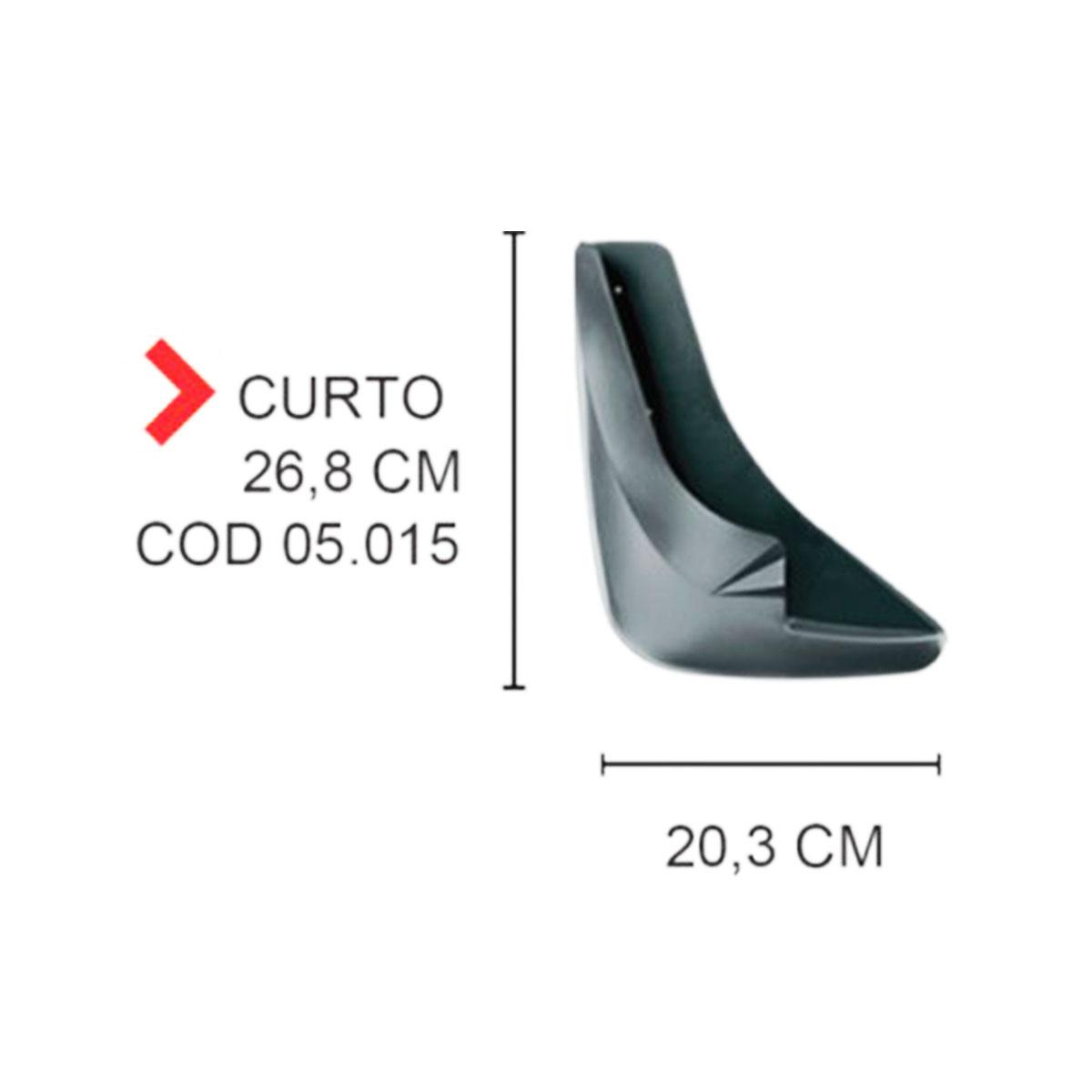 Apara Barro Curto Flap Universal Preto TG Poli 05.015
