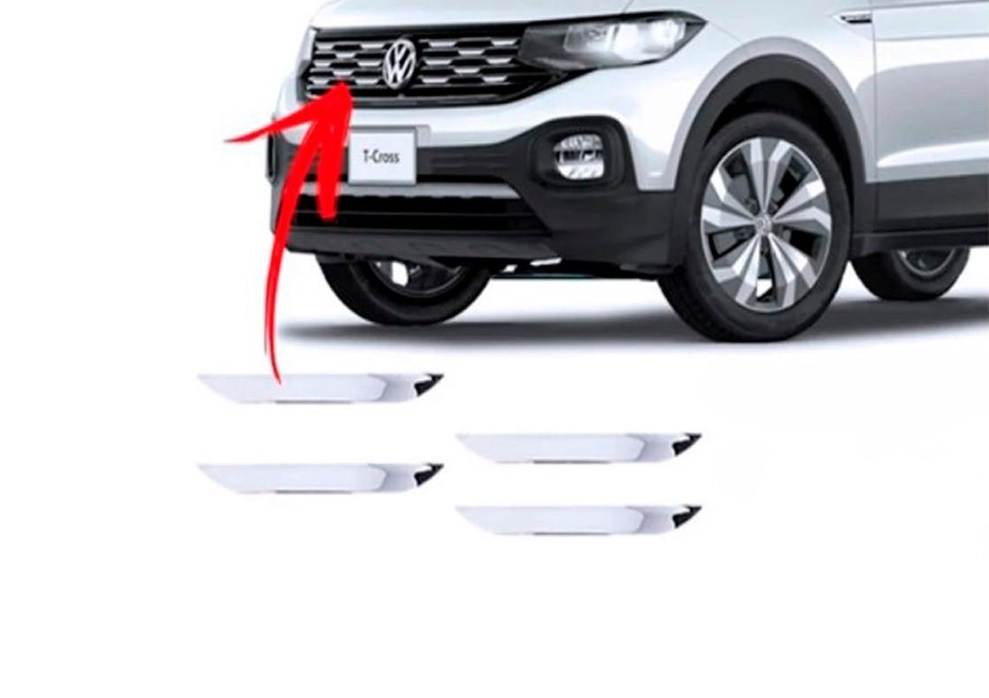 Aplique Tag Frontal Resinado Volkswagen T-Cross 2019 em diante