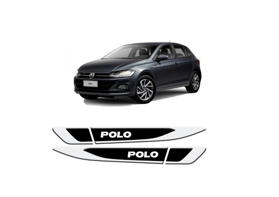 Aplique Tag Lateral Resinado Emblema Volkswagen Polo 2018 em diante