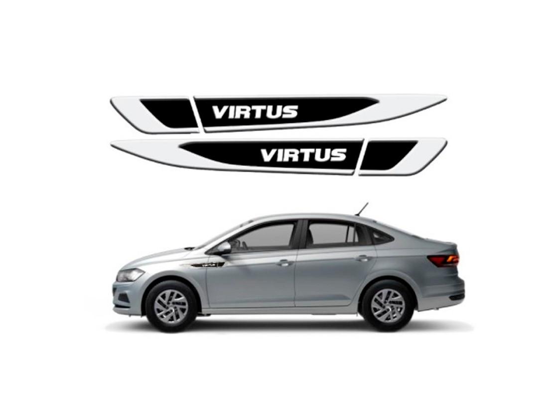 Aplique Tag Lateral Resinado Emblema Volkswagen Virtus 2018 em diante