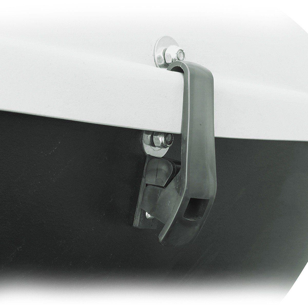 Bagageiro Maleiro de Teto Jetbag Conquest 370 Litros Cinza