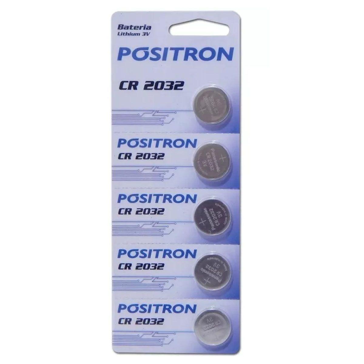 Bateria CR2032 Positron para Alarme Cartela com 5 Unidades