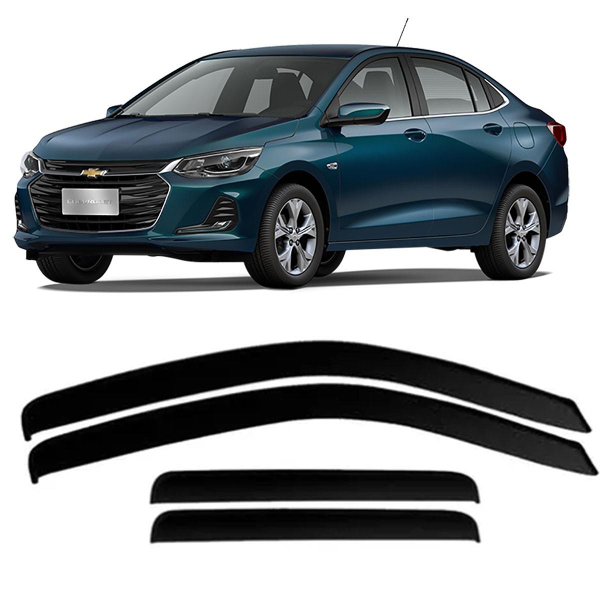 Calha de Chuva Chevrolet Onix Plus Sedan 2020 em Diante 4 Portas Defletor TG Poli 23.035