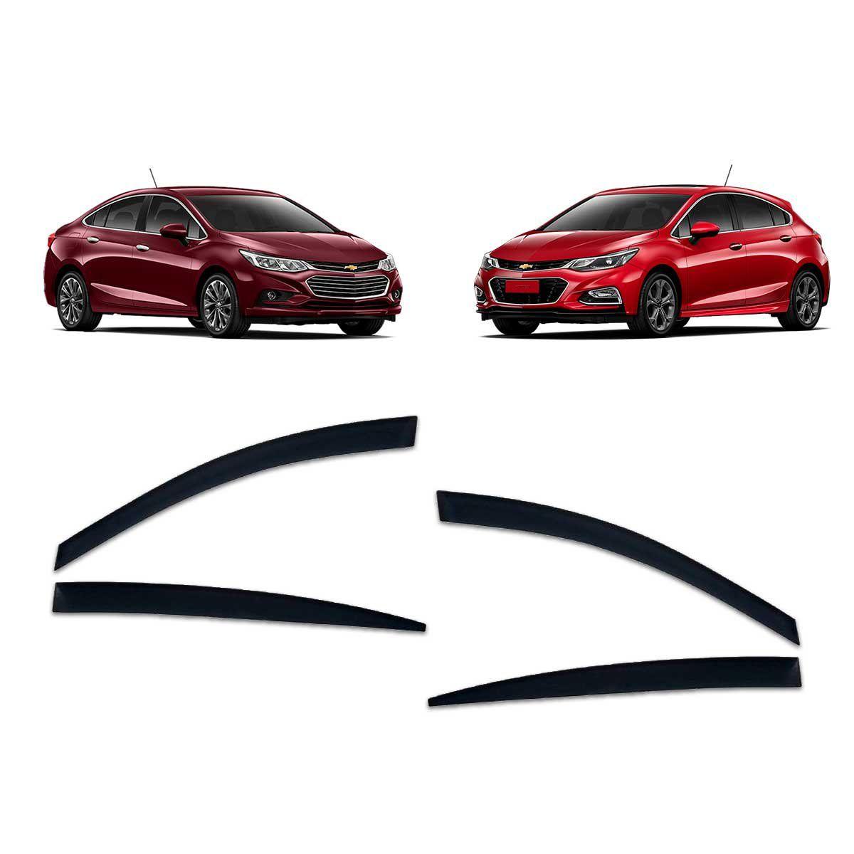 Calha De Chuva Cruze Hatch e Sedan 2017 em diante Defletor TG Poli