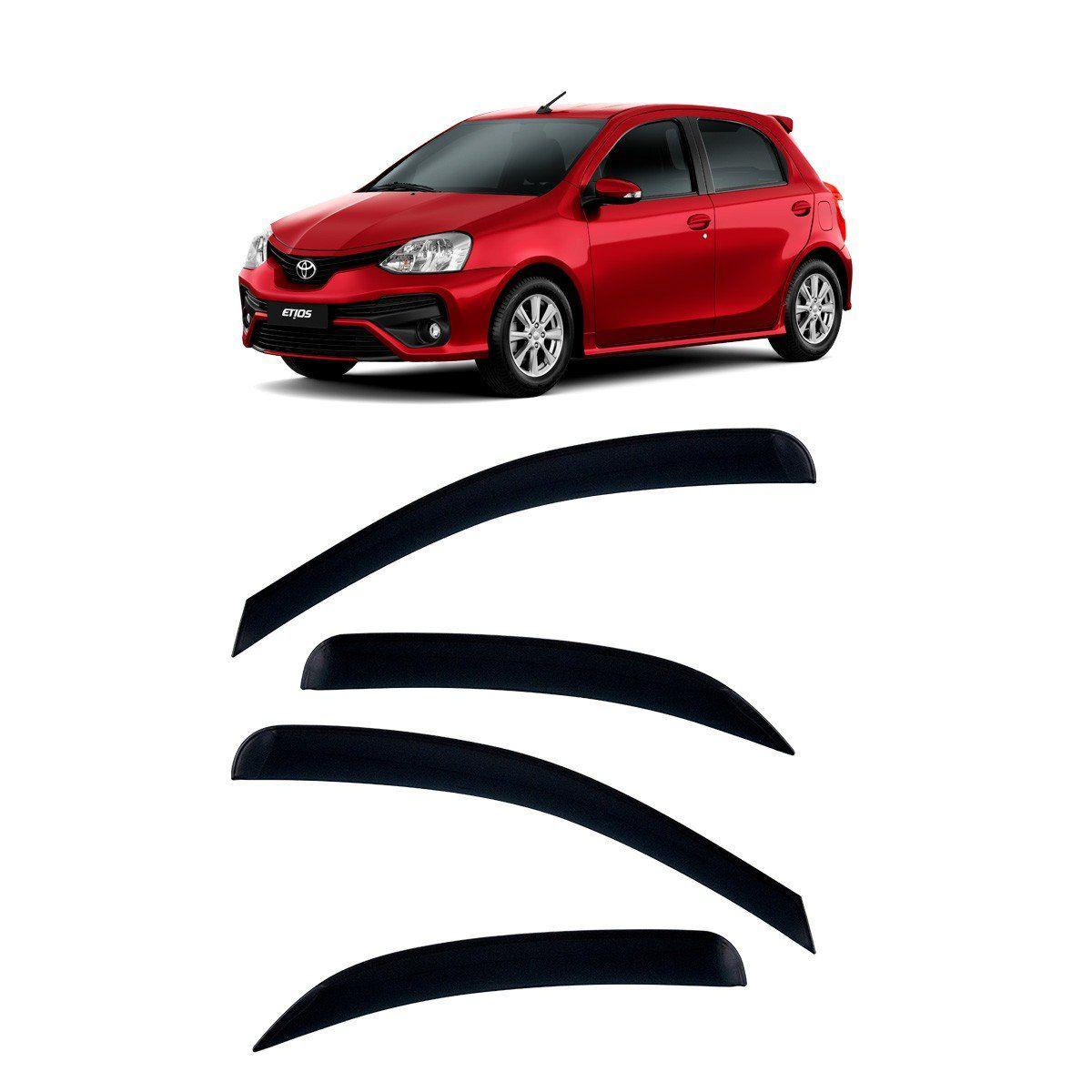 Calha De Chuva Etios Hatch E Sedan Defletor TG Poli