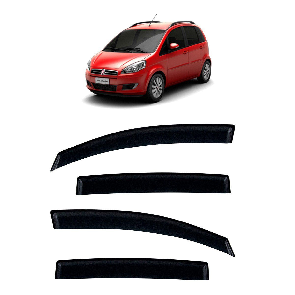 Calha De Chuva Para Fiat Idea 2005 A 2015 TG Poli