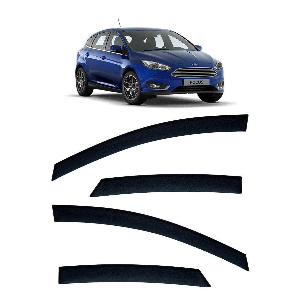 Calha De Chuva Focus Hatch E Sedan 2014 Em Diante TG Poli