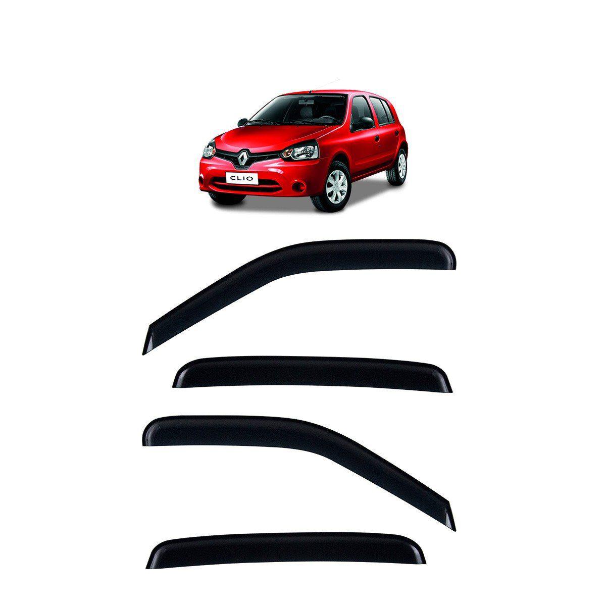 Calha de Chuva Renault Clio Hatch e Sedan Defletor TG Poli