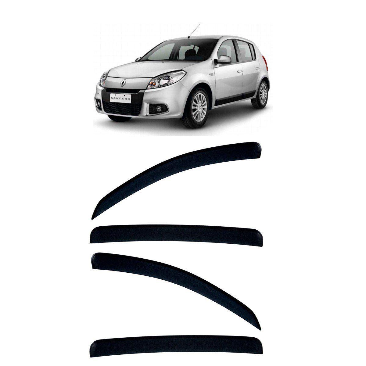 Calha De Chuva Para Renault Sandero 2007 A 2014 TG Poli
