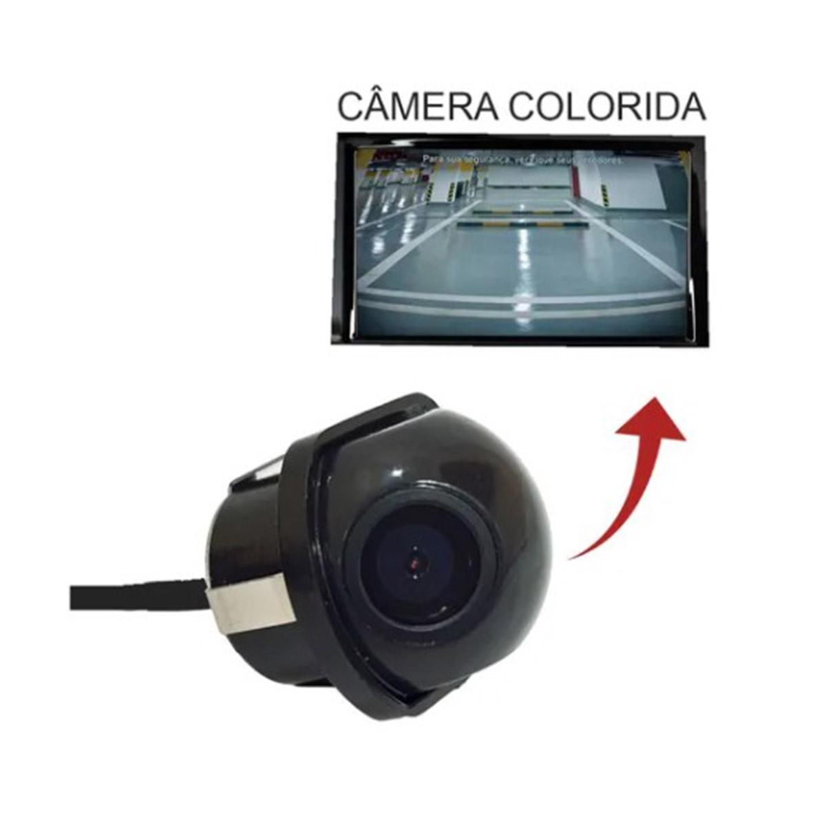 Câmera De Ré Automotiva Tartaruga 45° 40k6000 Colorida