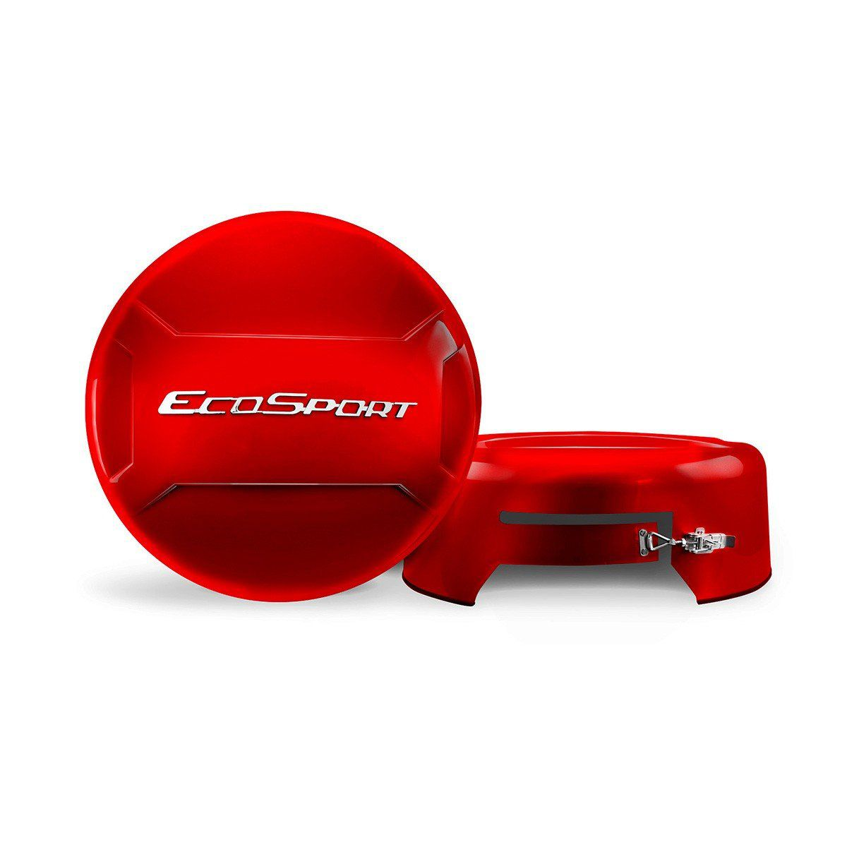 Capa de Estepe Rígida Ecosport Vermelha com Cadeado