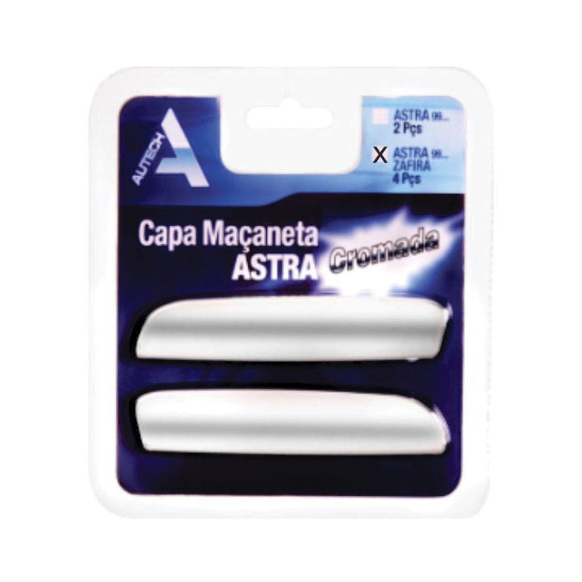 Capa de Maçaneta para Astra 1999 em diante e Zafira 4 Portas Cromada