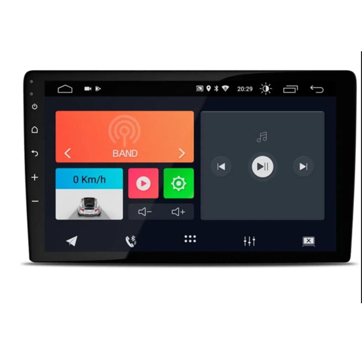 "Central Multimidia 10.1"" Universal Android 10 com 2 USB Bluetooth Espelhamento Google Play Faaftech"