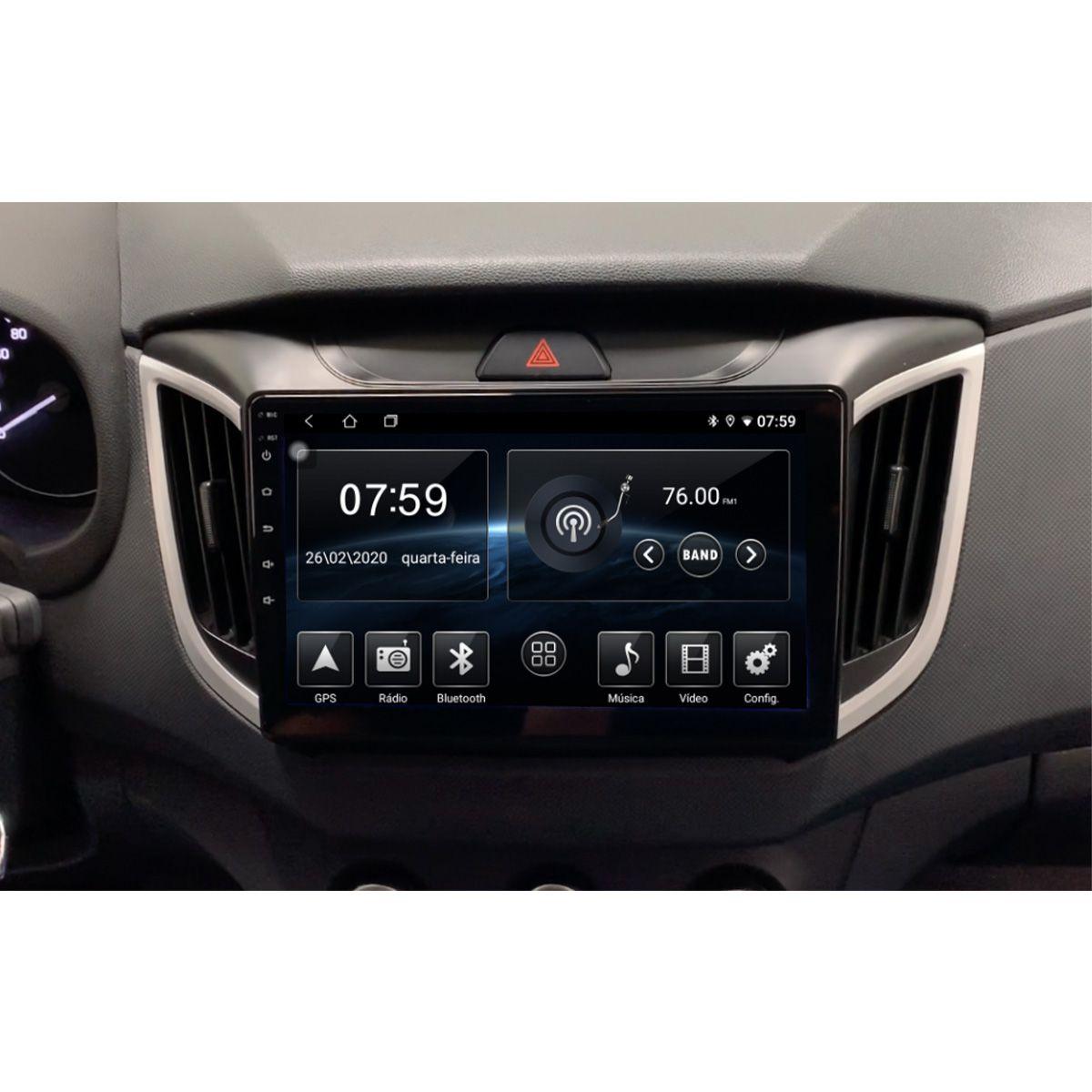 Central Multimídia Hyundai Creta PCD 10 polegadas Carpad Orbe