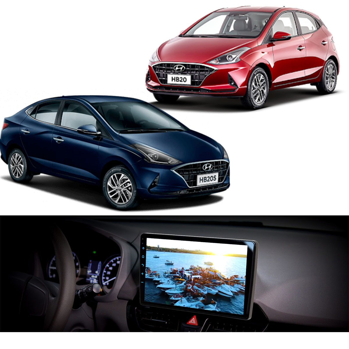 Central Multimidia Hyundai HB20 Tela de 10.1 com IPS Android 10 Bluetooth 4.0  - FT-MM-AND10.1HY