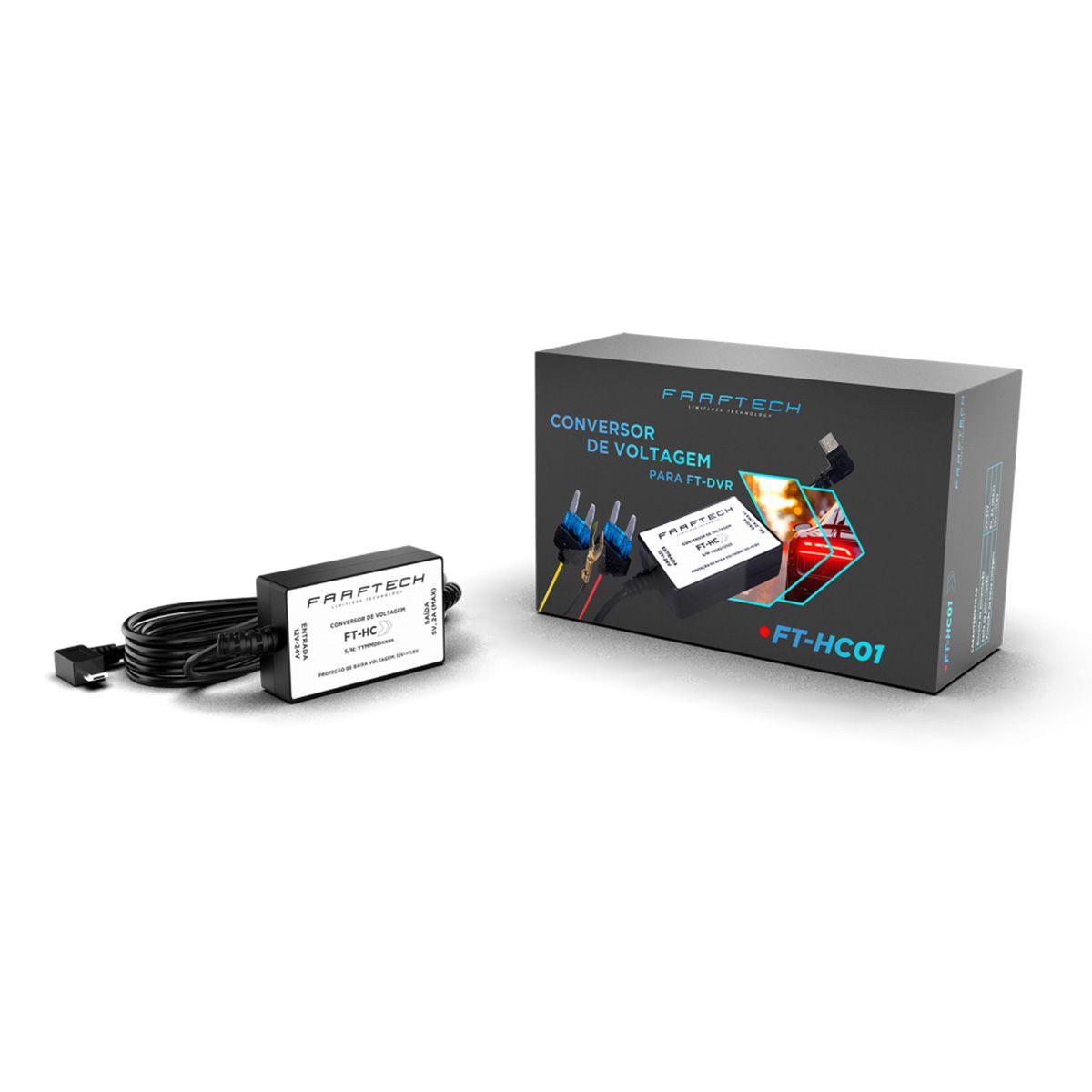 Conversor de Voltagem FT-HC01 para DVR Faaftech