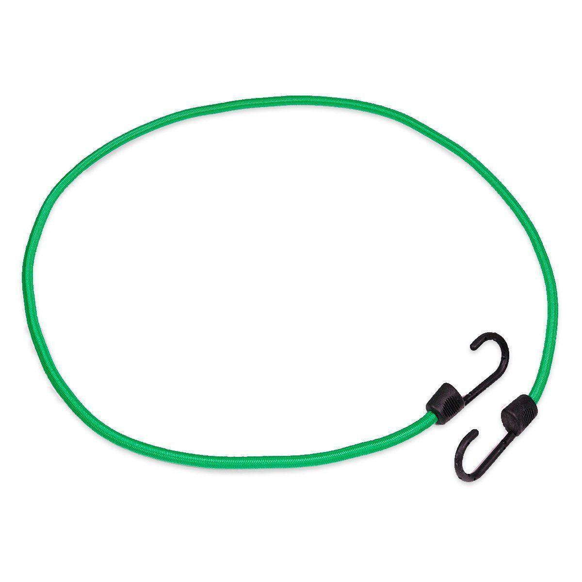Corda Elástica Extensor Carga Com Gancho 1,2 Metros Verde