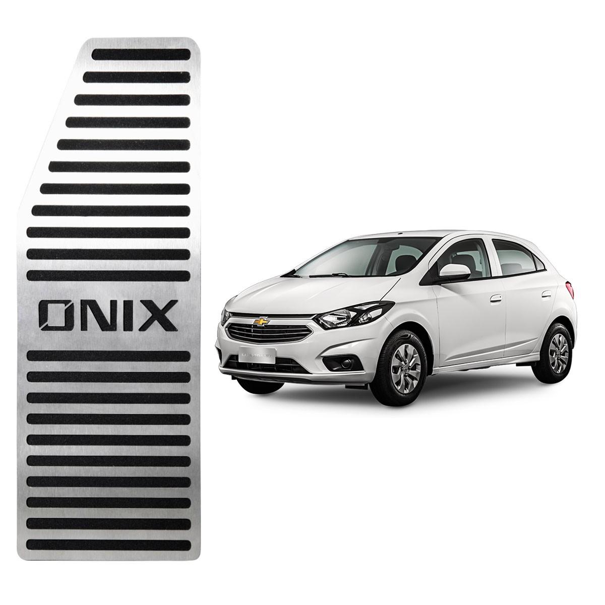 Descanso de Pé Chevrolet Onix Aço Inox Escovado