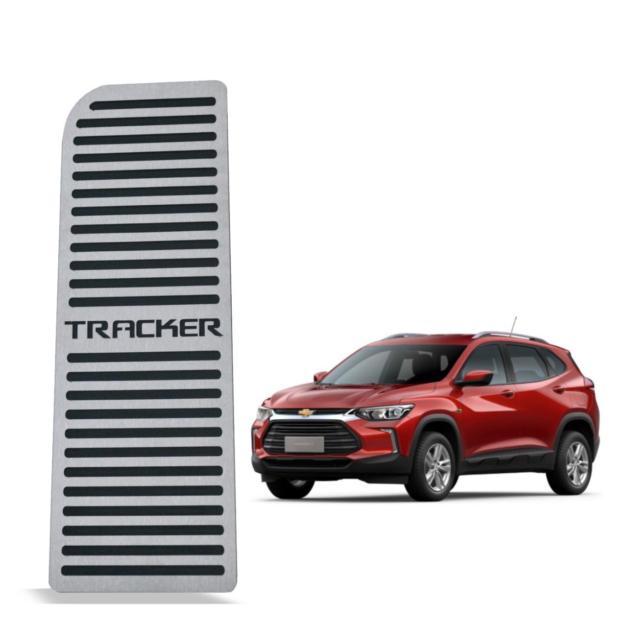 Descanso de Pé Chevrolet Tracker 2020 em diante Aço Inox Escovado