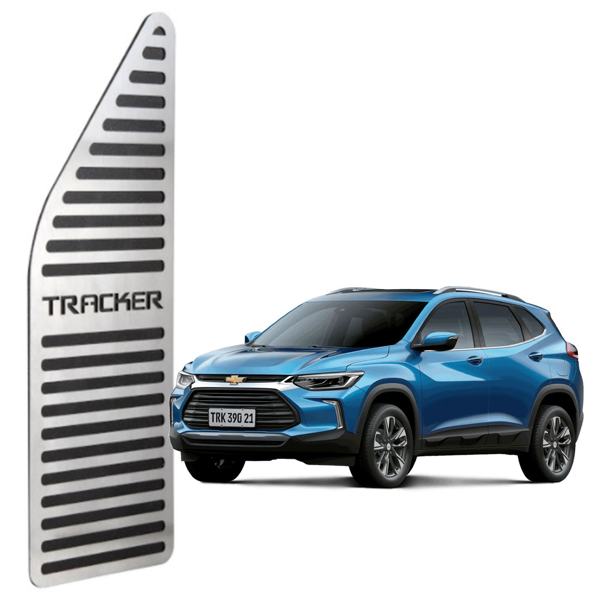 Descanso de Pé Chevrolet Tracker Aço Inox Escovado