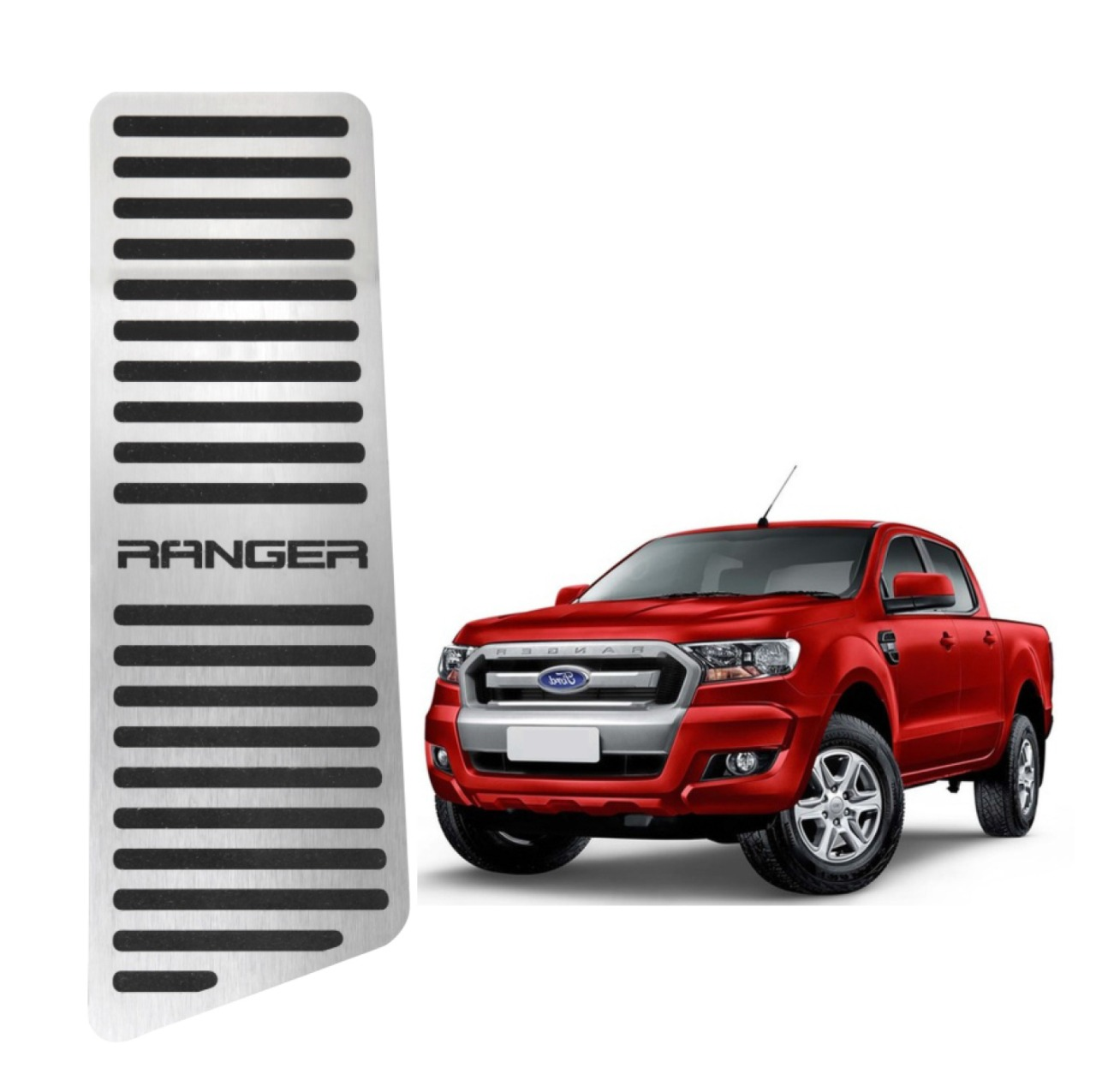 Descanso de Pé Ford Ranger Aço Inox Escovado