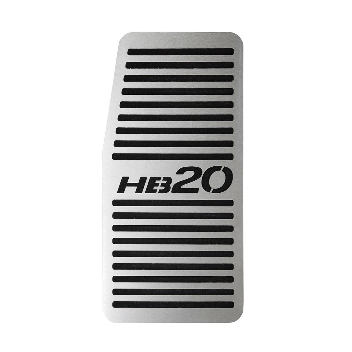 Descanso de Pé Hyundai HB20 Aço Inox Escovado