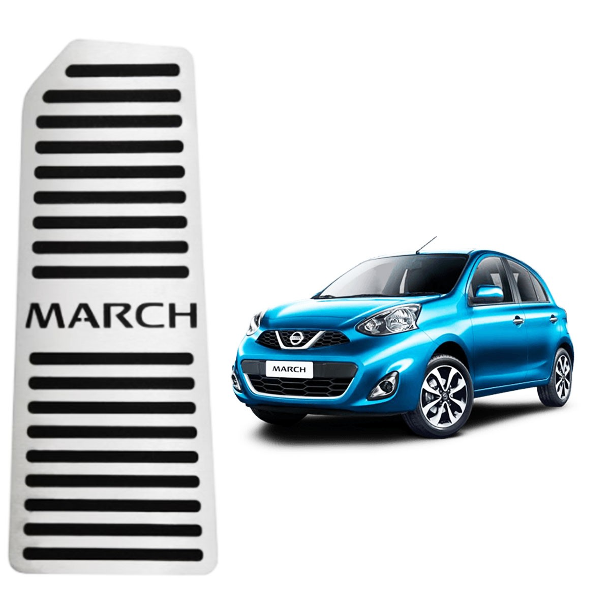 Descanso de Pé Nissan March Aço Inox Escovado