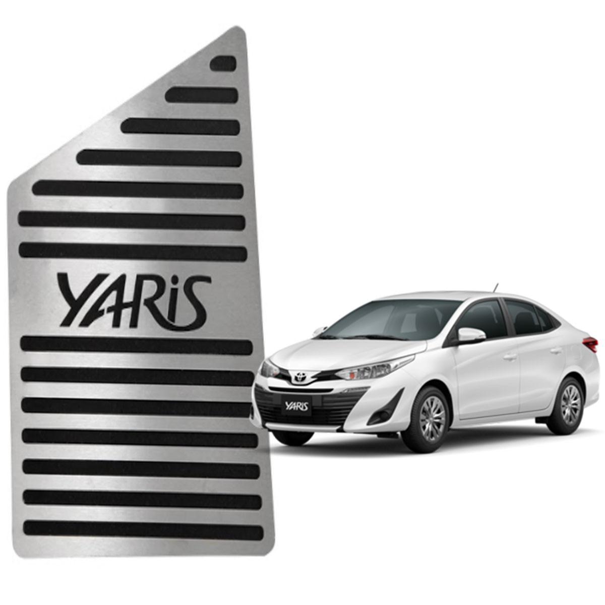Descanso de Pé Toyota Yaris Aço Inox Escovado