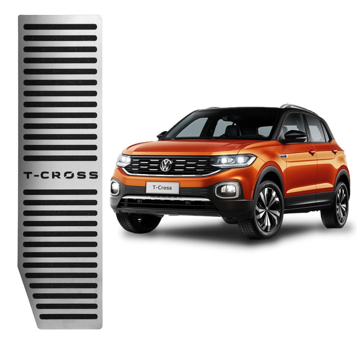 Descanso de Pé Volkswagen T-Cross Aço Inox Escovado