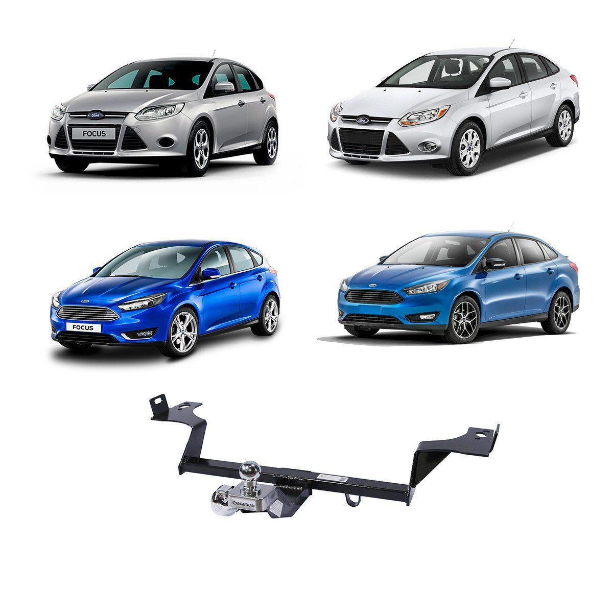 Engate Reboque Focus Hatch e Sedan 2014 em Diante Fixo