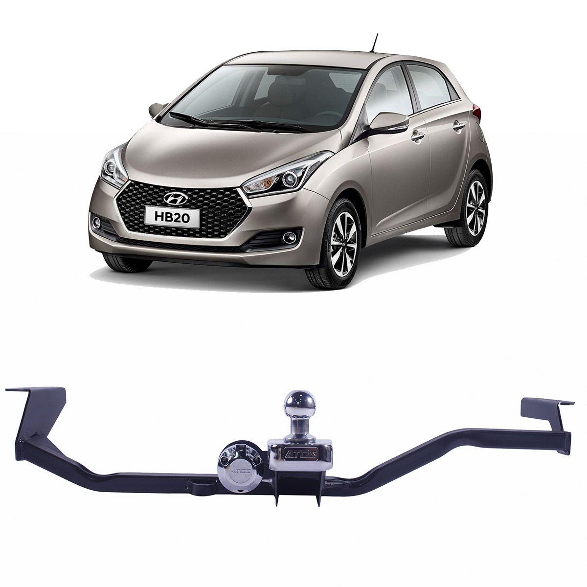 Engate Reboque Hyundai HB20 Hatch 2012 em Diante Fixo Atos